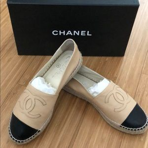 Authentic lamb skin leather espadrilles